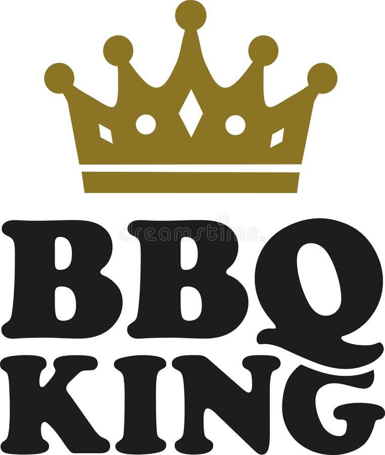 Bbq-konung med kronan vektor illustrationer