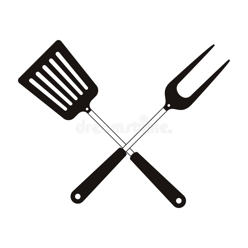 Bbq kulinarni naczynia royalty ilustracja