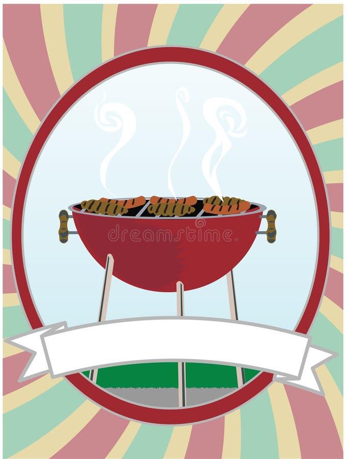 bbq kulinarni psów hamburgery gorący royalty ilustracja