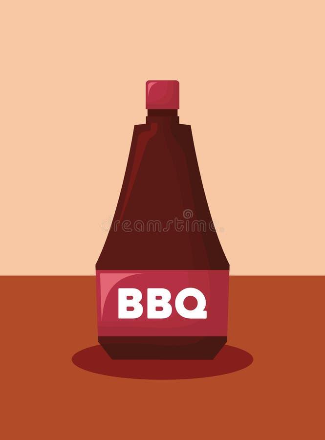Bbq kumberlandu ikona ilustracja wektor