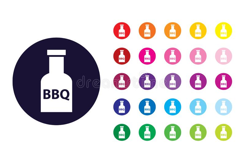 BBQ kumberlandu znaka ikona BBQ kumberlandu koloru symbol ilustracji