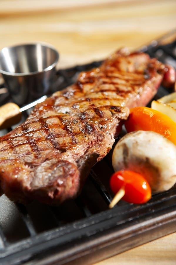 BBQ lapje vlees stock fotografie