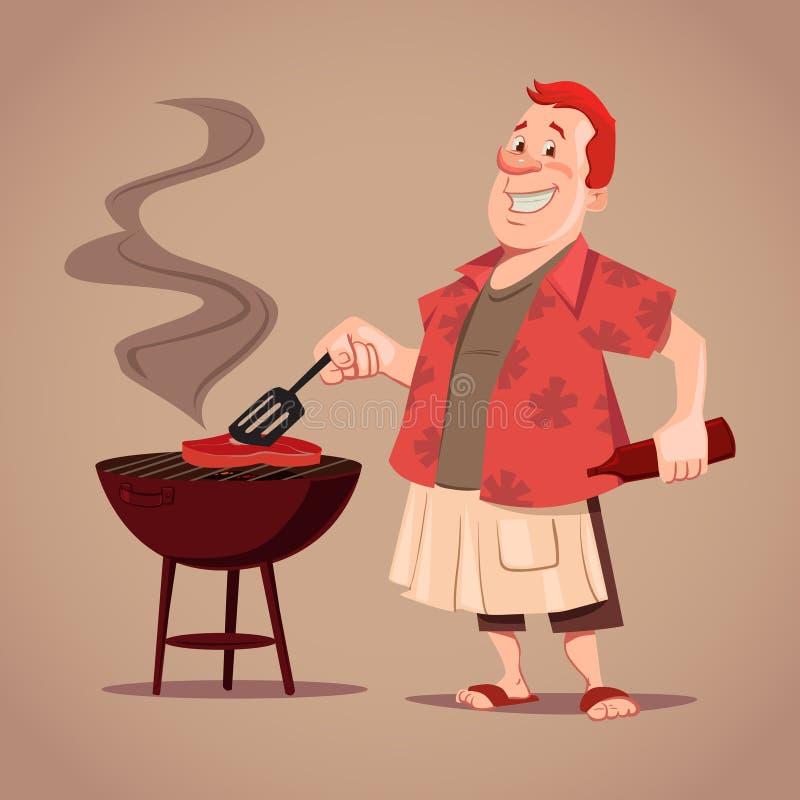 Bbq mężczyzna ilustracja wektor