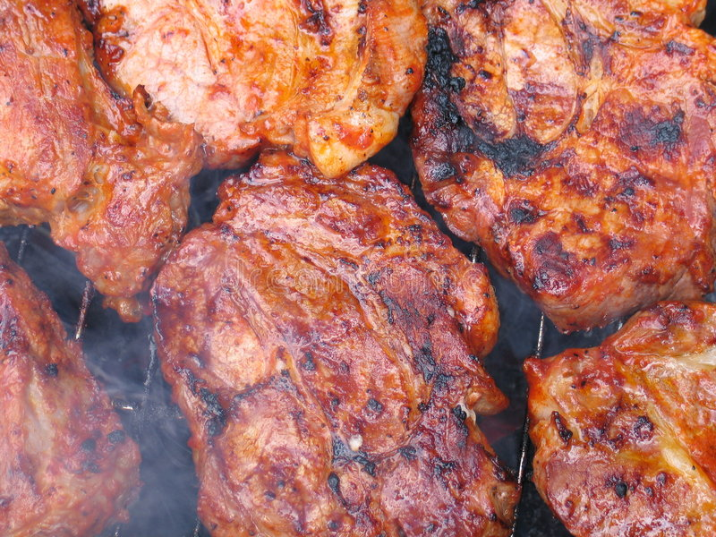 Bbq meat stock photo