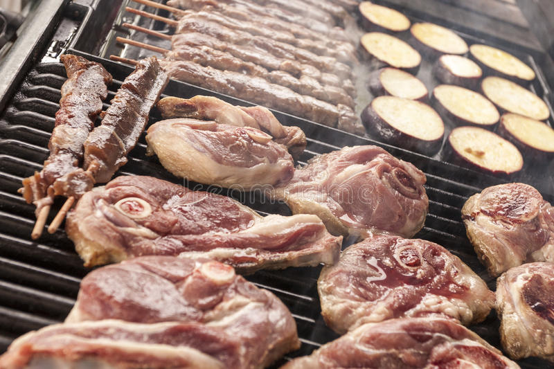 Download Bbq meat stock photo. Image of lamb, eating, food, cook - 26597682