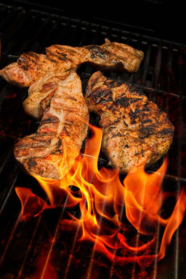 Bbq meats stock image