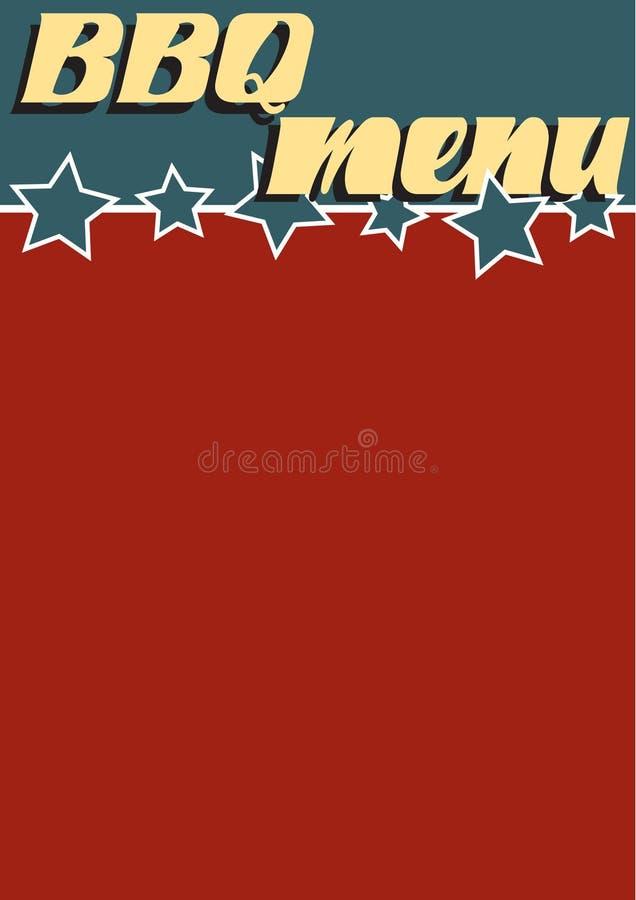 BBQ Menu. A vintage Americana Style BBQ menu template vector illustration