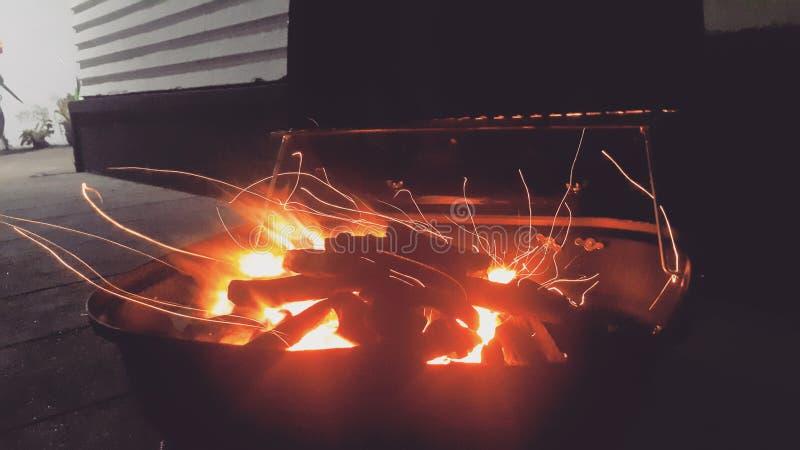 BBQ Nacht royalty-vrije stock afbeeldingen