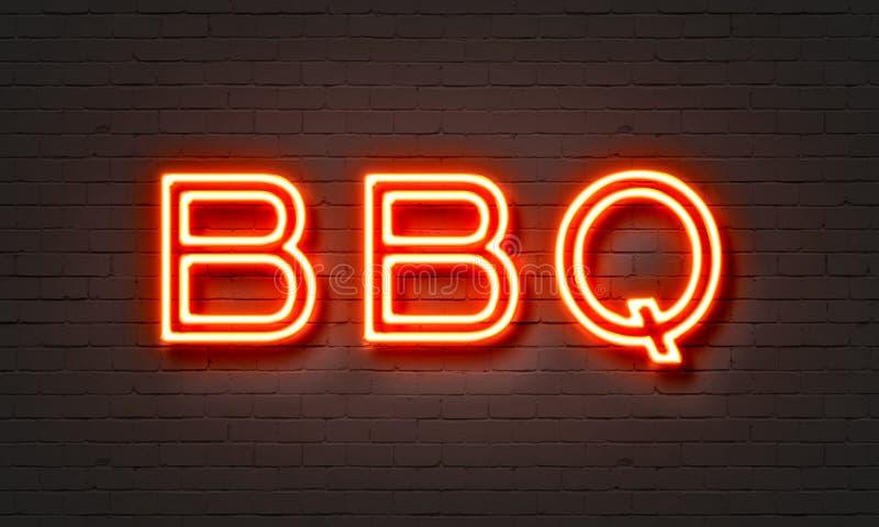 BBQ neonowy znak ilustracji
