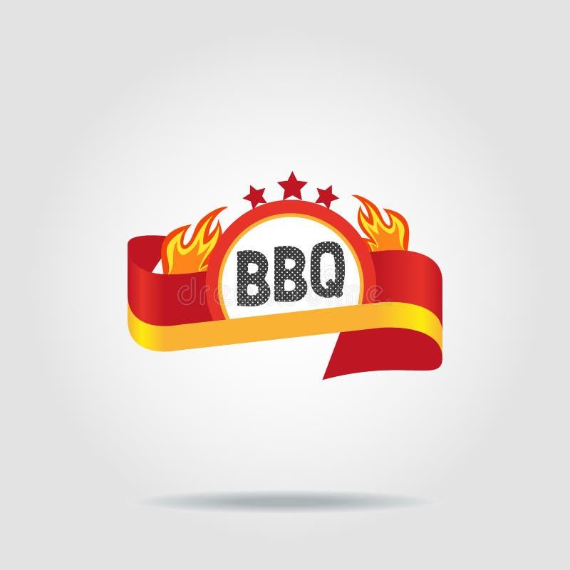 BBQ odznaki ikona royalty ilustracja