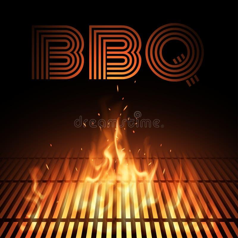 BBQ ogienia grille ilustracji