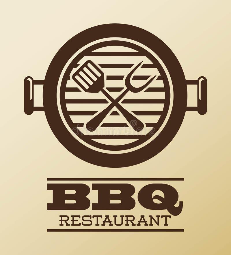 Bbq ontwerp stock illustratie