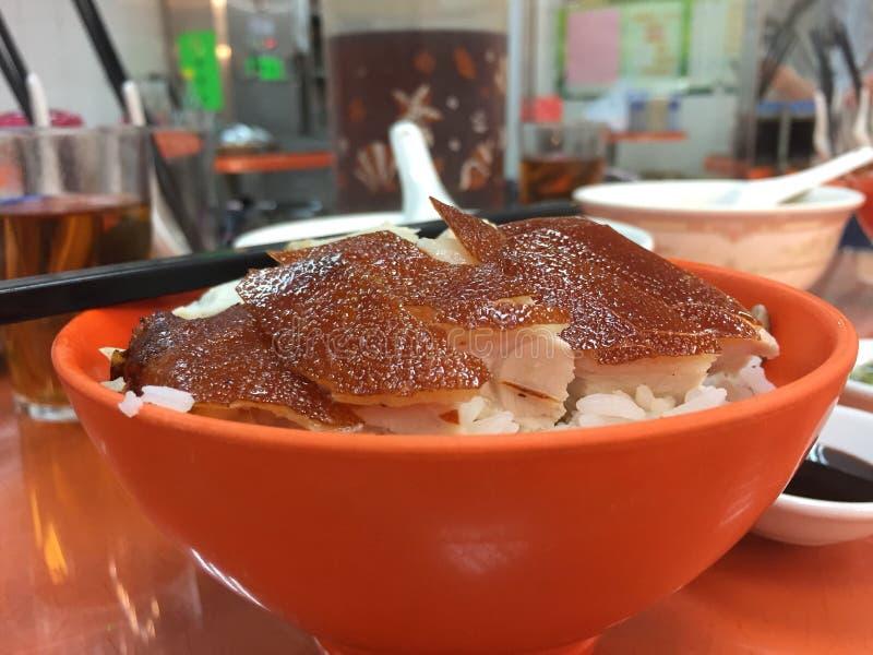 Bbq oseska świnia z ryż zdjęcia stock