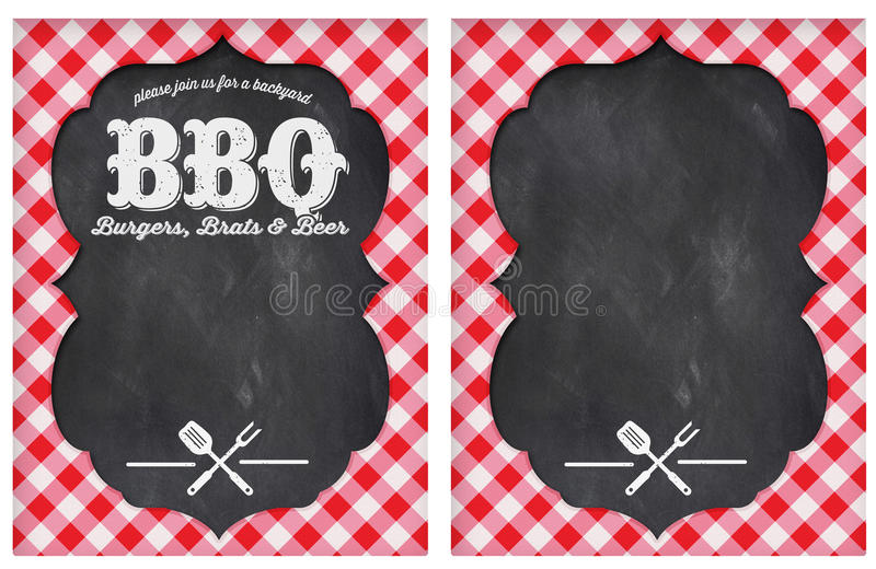 Bbq-parti royaltyfri illustrationer