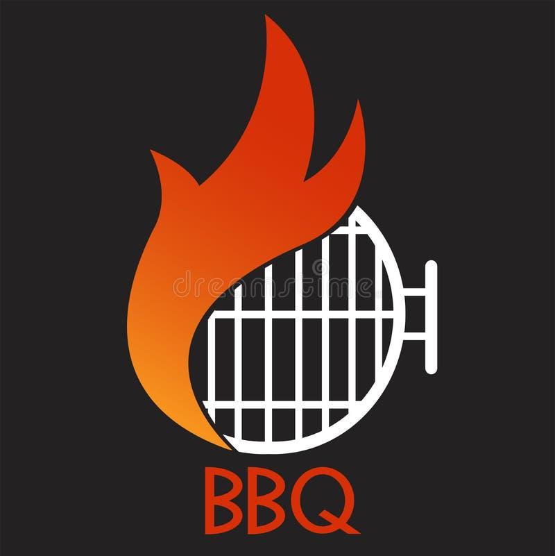 Bbq-partibakgrund, banervektordiagram, hälsningkort eller affisch vektor illustrationer