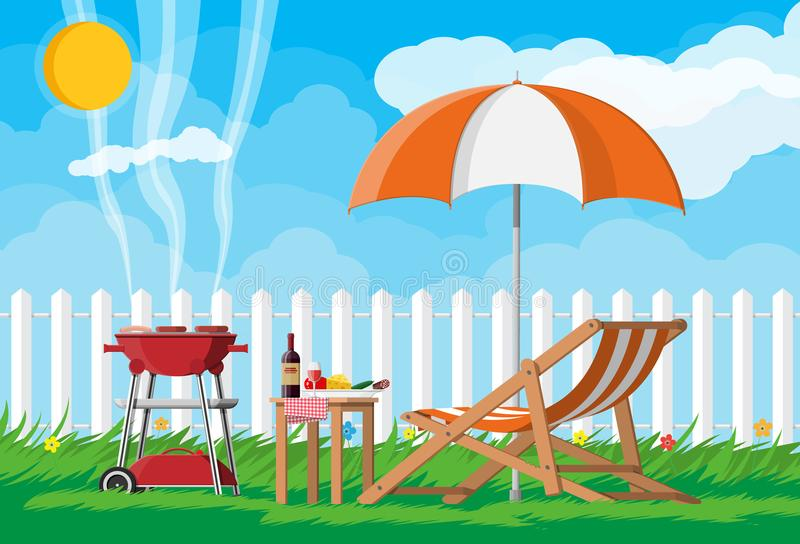 Bbq party concept vector illustration