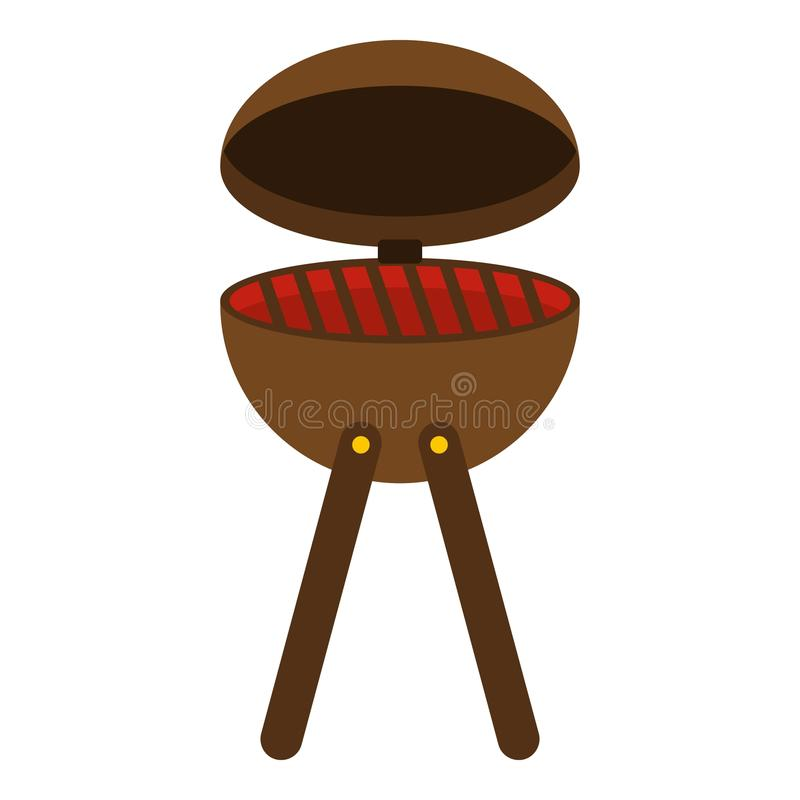 BBQ party grill icon isolated royalty free illustration