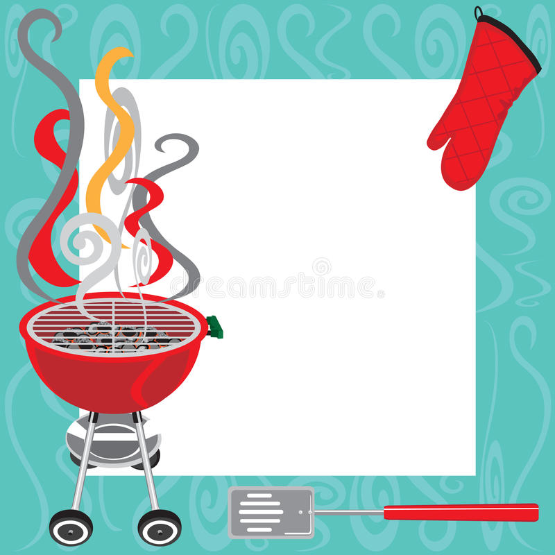 bbq party invitation stock vector illustration of flames 18504062