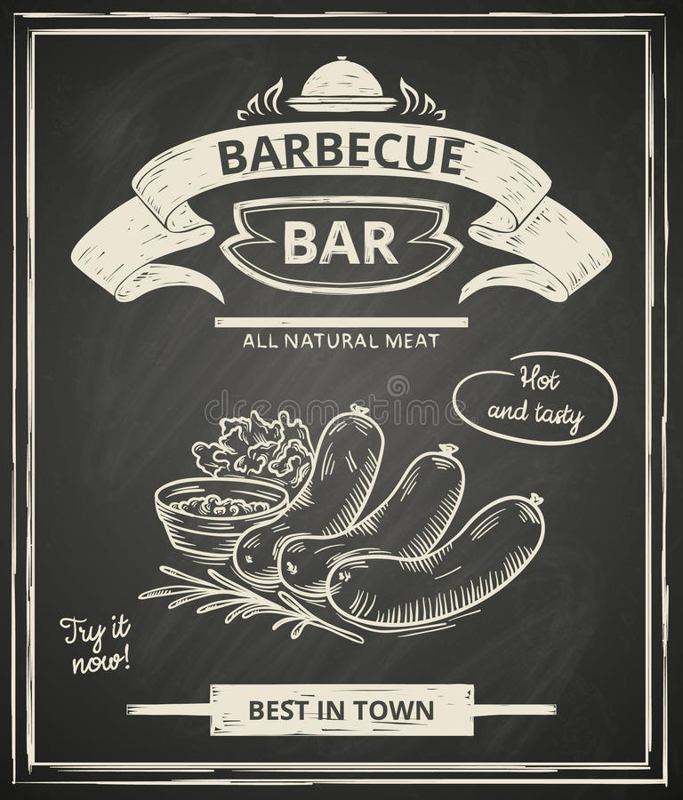 BBQ plakat ilustracji