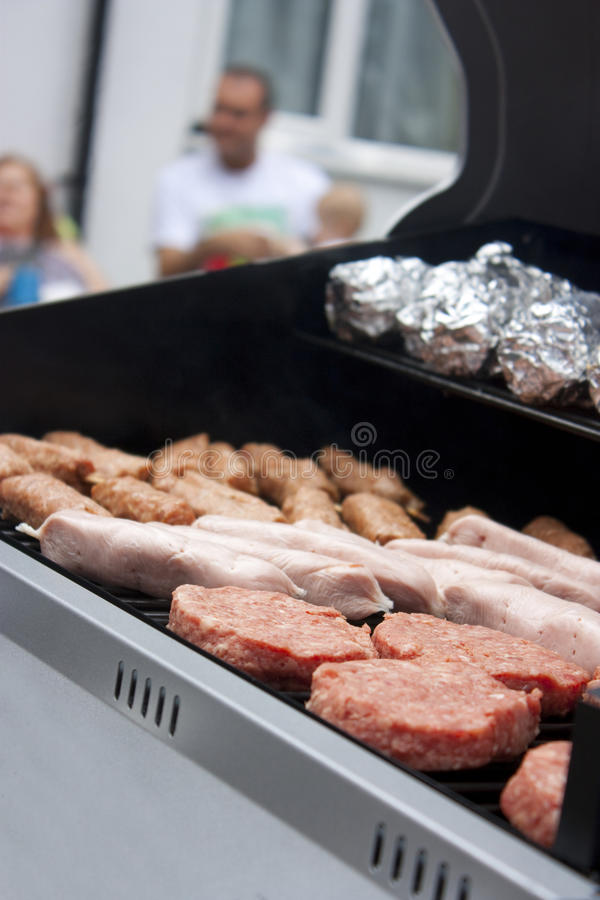 Download Bbq with raw meat stock image. Image of meat, sausages - 15547123