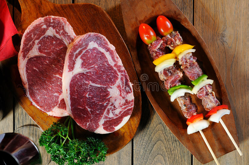 Download Bbq and raw meat stock image. Image of green, american - 24650145