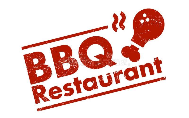 Bbq restauracja ilustracji