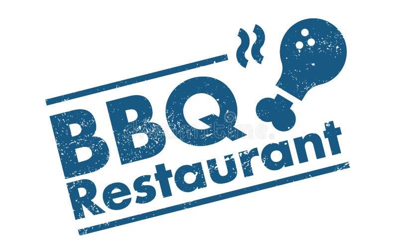 Bbq restauracja ilustracja wektor