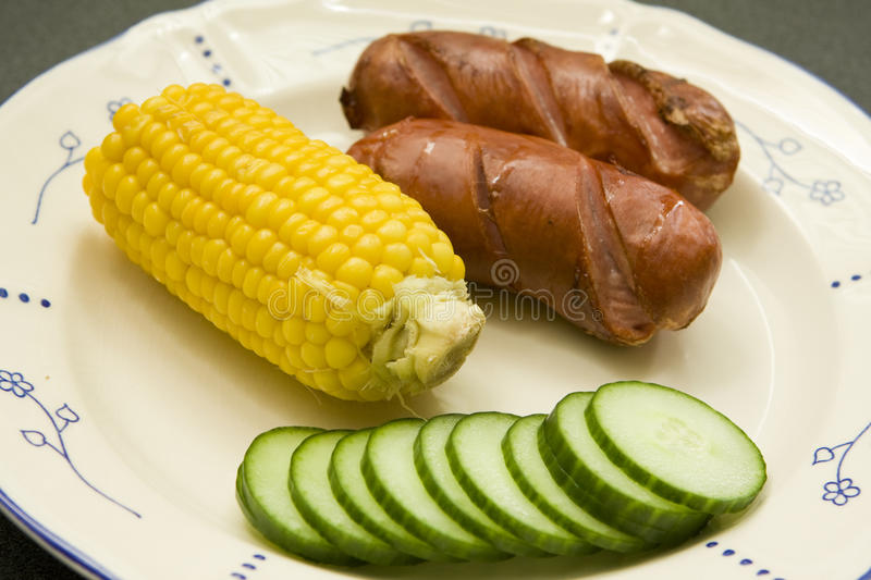 Download BBQ sausages stock image. Image of dogs, salad, warm - 13769807