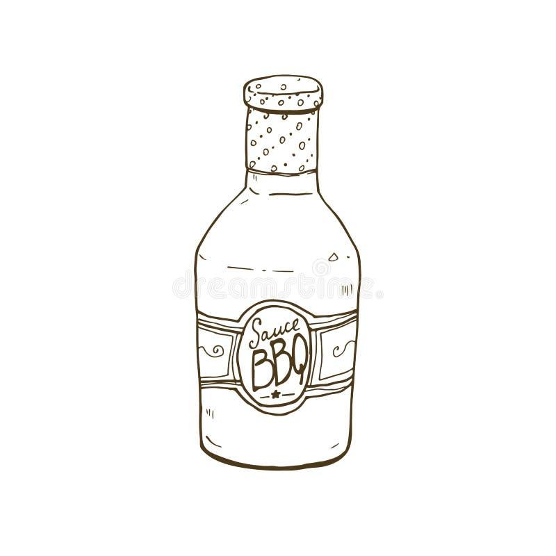 Bbq sause nakreślenie royalty ilustracja