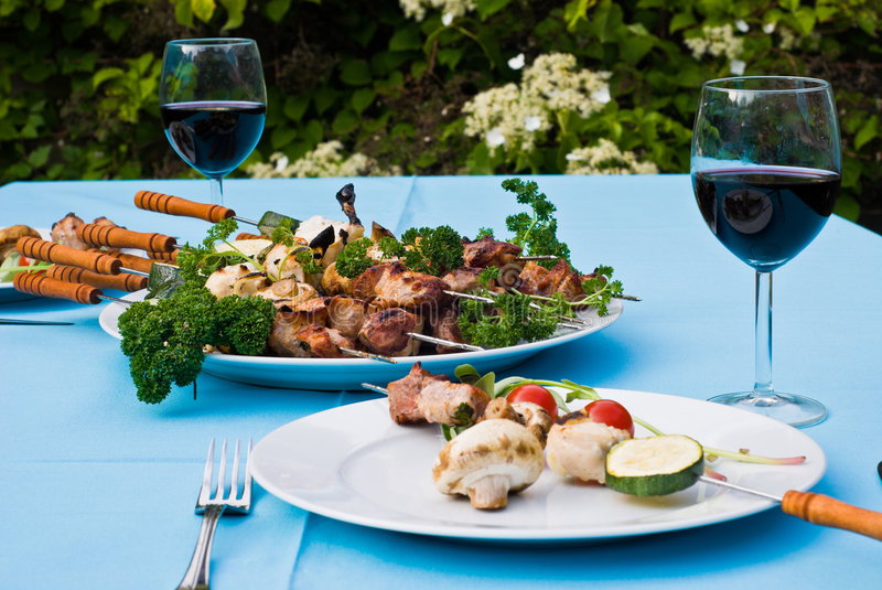 BBQ Served Royalty Free Stock Photography