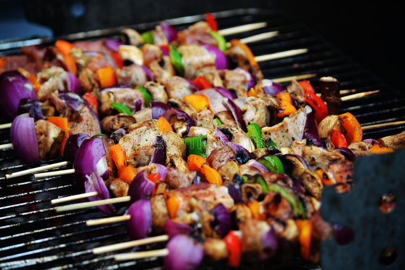BBQ Skewers stock photos
