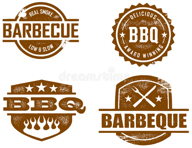 BBQ Stamps vector illustration