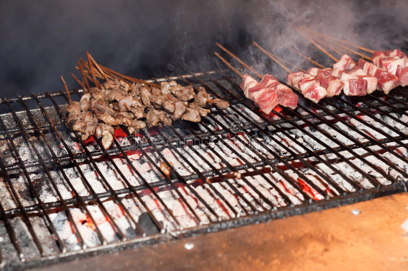 Download BBQ sticks stock image. Image of barbeque, rare, lunch - 26620745
