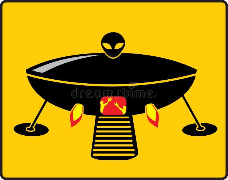 BBQ UFO grill ilustracja wektor