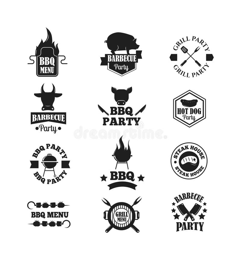 BBQ vector illustration set royalty free illustration