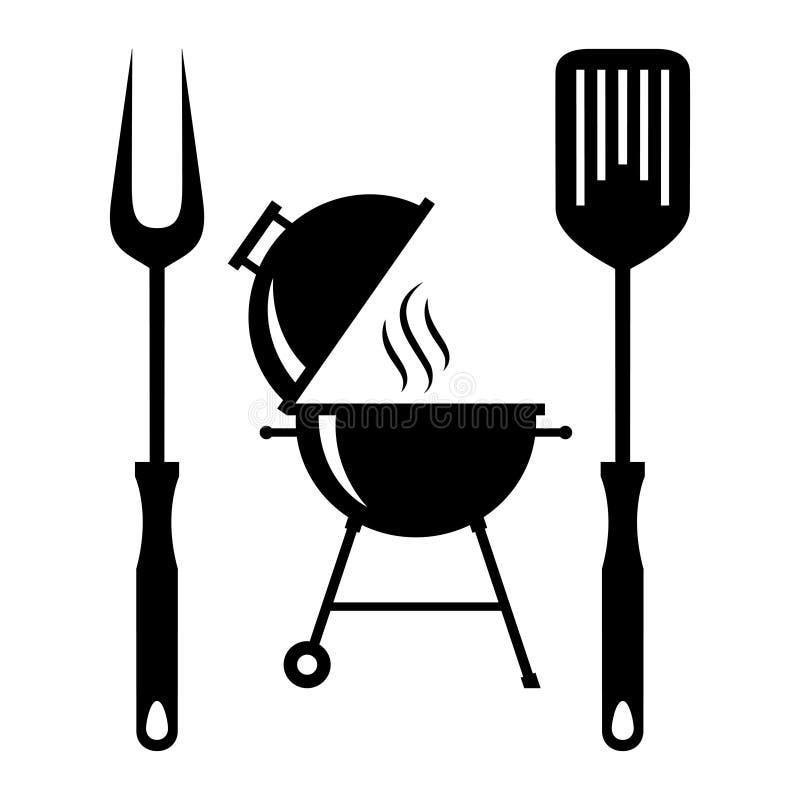 BBQ wytłacza wzory symbole ilustracja wektor