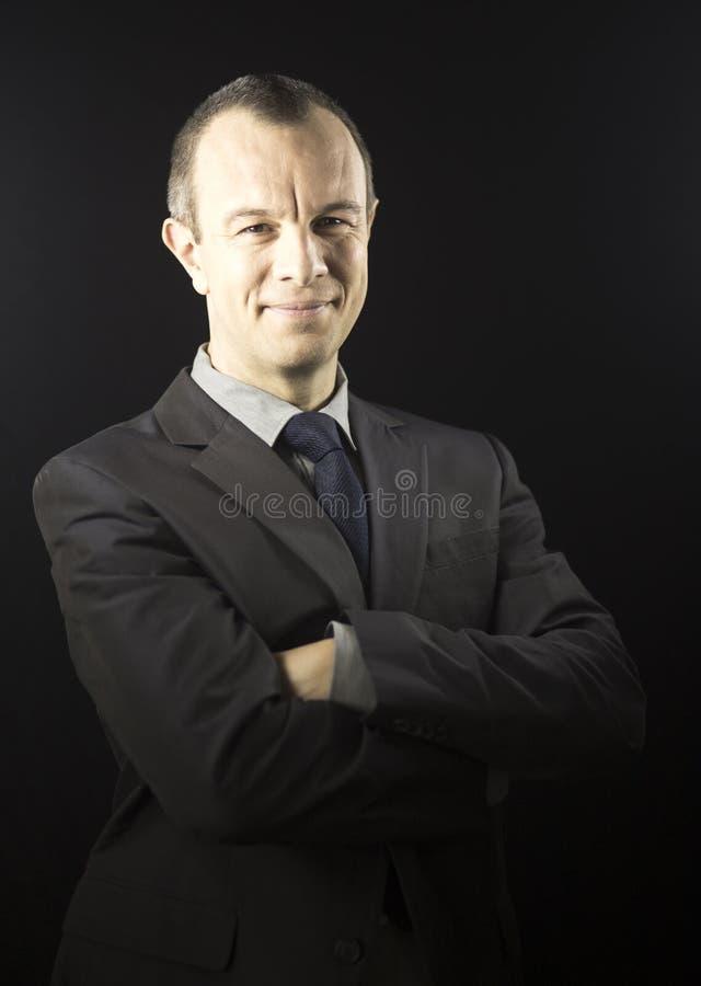 BBusinessman in 40s invecchiato vestito fotografia stock libera da diritti