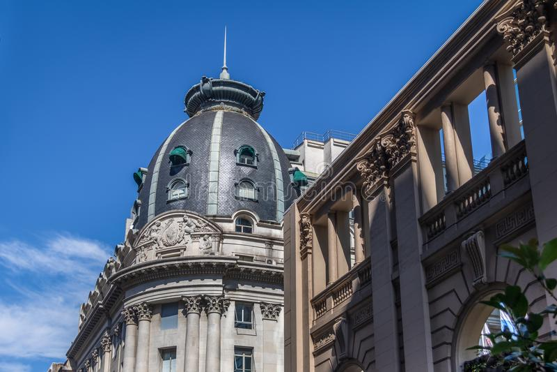 BBVA Frances bank Headquarters Building Dome - Buenos Aires, Argentina. BBVA Frances bank Headquarters Building Dome in Buenos Aires, Argentina stock photography