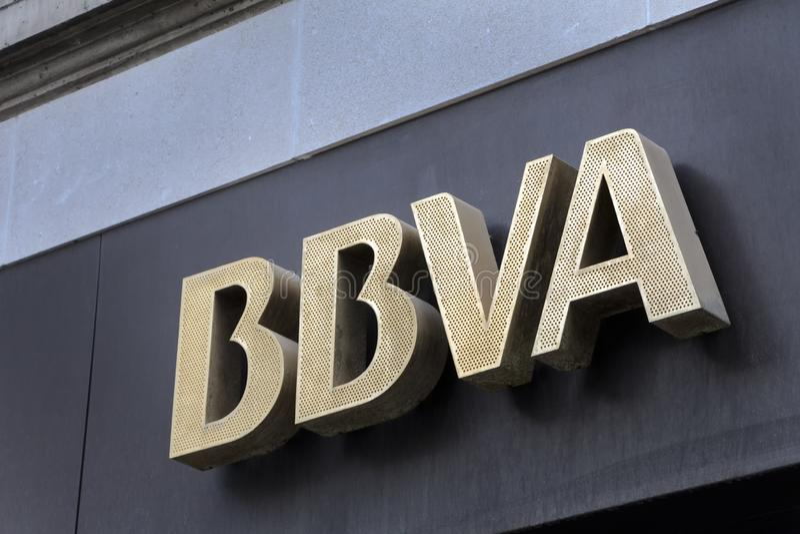 BBVA Logo On BBVA Bank Branch Office Editorial Stock Image - Image of exterior, analysis: 145374754