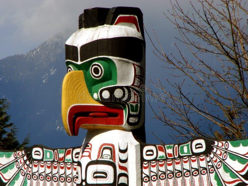 BC加拿大图腾温哥华 免版税库存照片