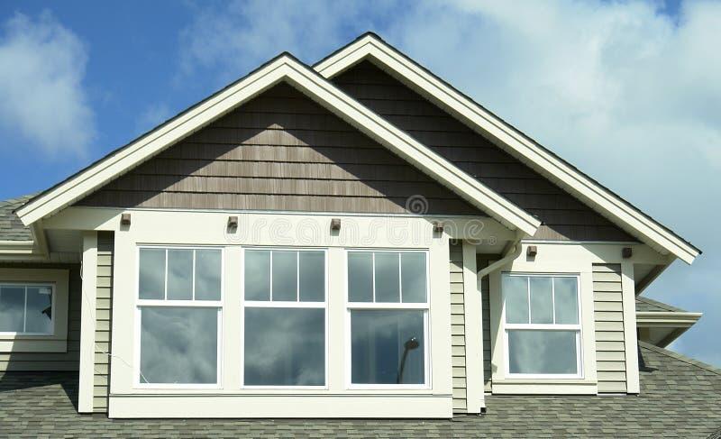 BC外部家庭房子房屋板壁 免版税库存图片