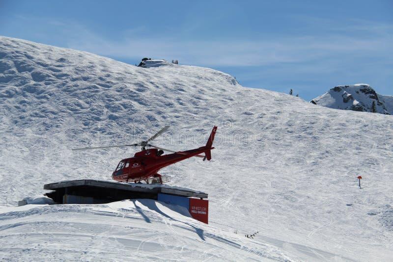 BC直升机吹口哨加拿大 免版税库存照片