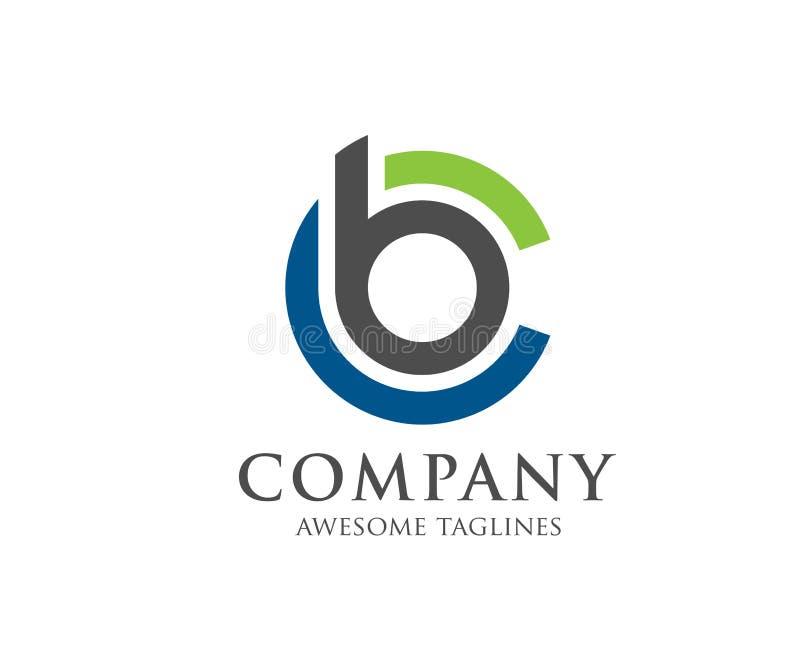 BC Buchstabelogo-Designvektor stock abbildung