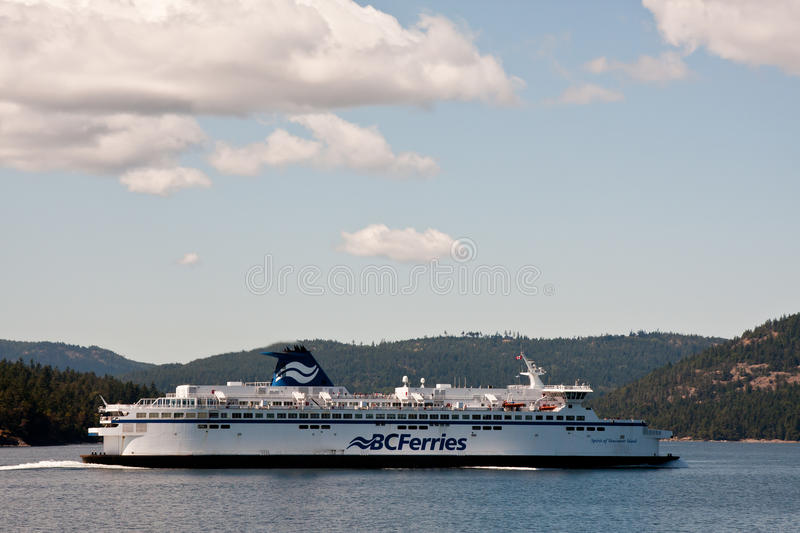 BC Ferries. Large BC Ferry / Ferries crossing near Swartz Bay, Victoria royalty free stock images