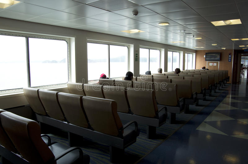 BC Ferry seating erea. Comfortable seating in a Ferry from Vancouver to Victoria BC royalty free stock images