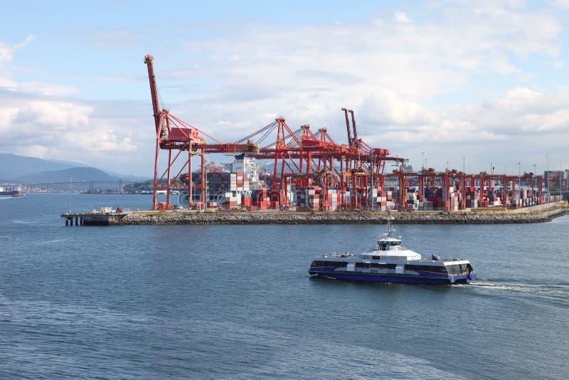 bc Kanada industriell port vancouver royaltyfria bilder