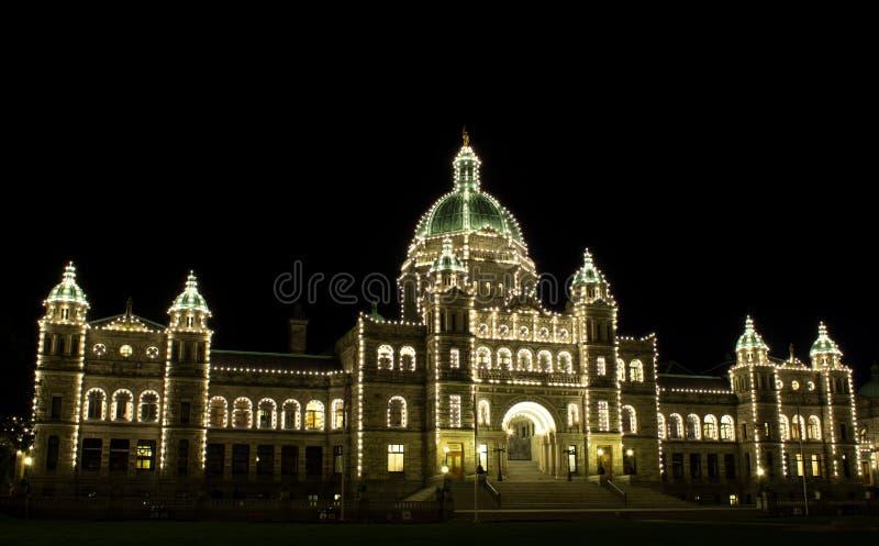 Download BC Legislature Building stock image. Image of night, government - 23780413