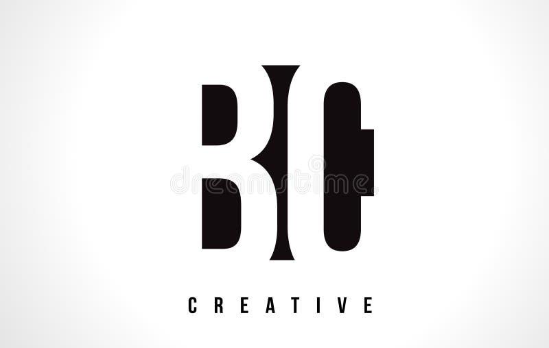 BC letra branca Logo Design de B C com quadrado preto ilustração do vetor