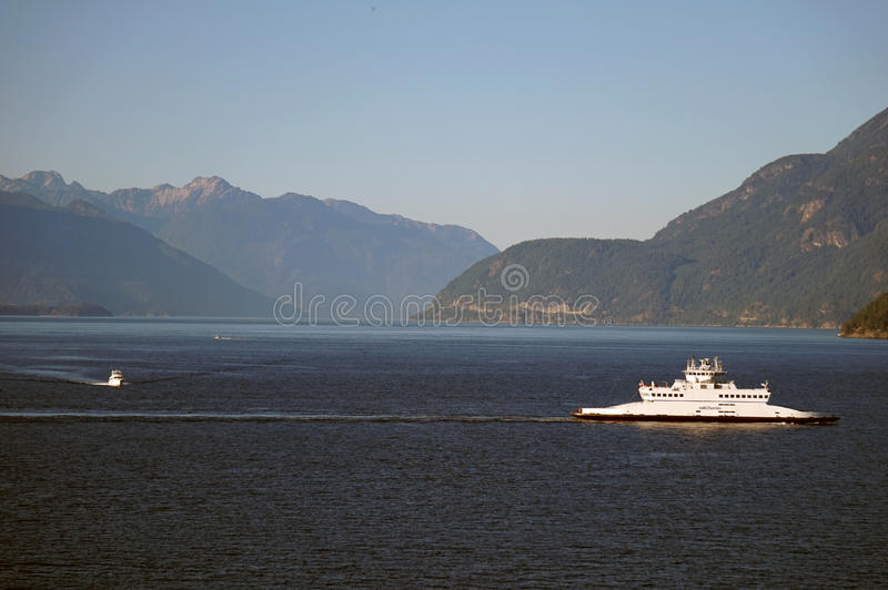 BC Passenger Ferry off the coast of Vancouver, Canada. BC Passenger Ferry on the Pacific Ocean off the coast of Vancouver, Canada. Pictured is the transportation royalty free stock photos