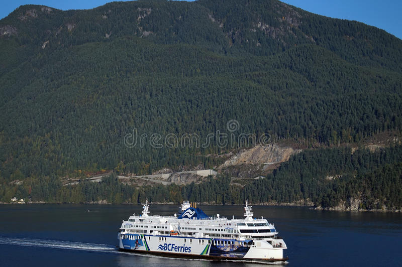 BC Passenger Ferry off the coast of Vancouver, Canada. BC Passenger Ferry on the Pacific Ocean off the coast of Vancouver, Canada. Pictured is the transportation royalty free stock photo